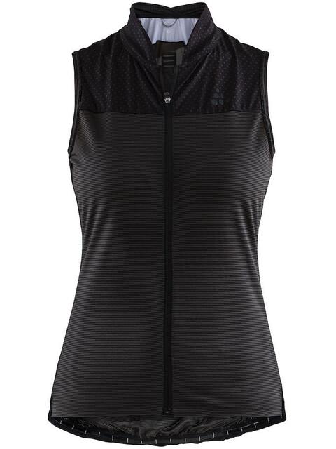 Craft Hale Glow Mouwloof Fietsshirt Dames zwart